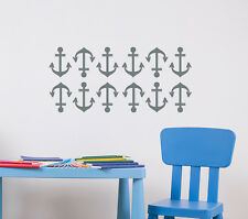 Wall Decals Nautical Decal Anchor Vinyl Stickers Home Decor Bedroom Nursery aa27