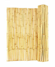 Backyard X-Scapes Natural Rolled Bamboo Panel Fence