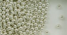 925 Sterling Silver 4mm Round Seamless Look Spacer Beads, Choice of Lot Size