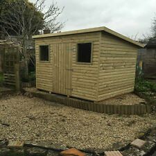 Tanalised T&G Throughout Heavy Duty Garden Shed Pent 15 Year Guarante anti-rot