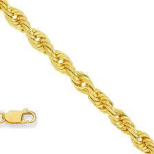 14k Solid Yellow Gold 1.25mm Rope Chain Necklace 16 18 20 24