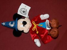 "Disney Parks 9"" Mickey Mouse Fantasia Sorcerer Plush Toy New With Tag"