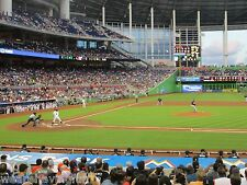 Marlins vs Colorado Rockies 8/12/17 (Miami) Row 1 - Behind Rockies Dugout