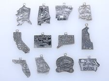 .925 Sterling Silver State Charm, Choice of  State