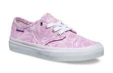 Vans Camden Stripe Trainers Girls Shoes Pumps Size 3, EU35 Pink Spin White Lilac