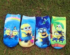 Lots New Despicable Me Minions Kids Boys Girls Warm Ankle Short Socks