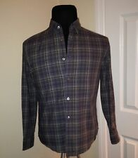New John Varvatos shirt plaid, slim fitted size Small S