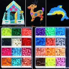 50 Colors 500pcs Perler Fun Fusion Hama Fuse Beads Refills Solid Color Kid Craft