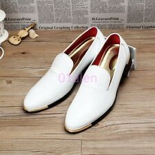 Mens Slip On Leisure Oxfords Loafers Chic Dress Breathable Shoes Wedding Creeper