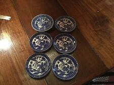 Set of 6 Vintage Blue Willow SAUCERS/PLATES  Made in Japan lovely