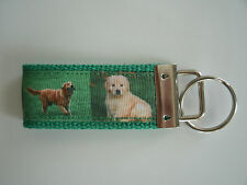 Golden Retriever Key Ring Key Chain Wristlet Made in USA Free Shipping