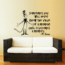 Dr Seuss Wall Decal Quote Sayings Vinyl Sticker Decals Nursery Baby Decor ZX243