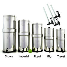 Berkey Water Filter System w/ Sight Glass Spigot - Crown Imp Royal Big Travel