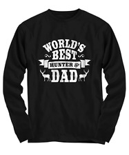 Worlds Best Dad Hunting T-Shirt - Fathers Day Gift - Long Sleeve Tee