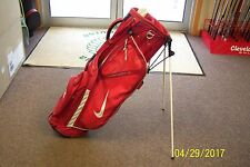 Nike Vapor X Golf Stand Bag Red/White 5-Way Top Very Good Cond Speed Trial Logo