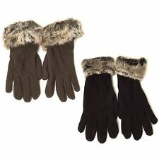 Fleece with Faux Fur around the Writs Ladies Gloves
