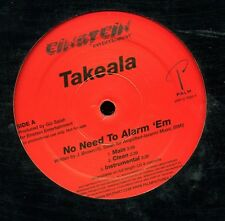"No Need To Alarm 'em by Takeala near mint Einstein promo 12"" Dance"