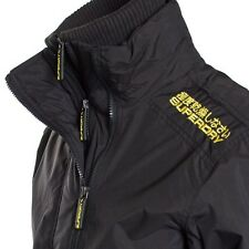 Superdry Technical Pop Zip Windcheater Jacket Black(Yellow)Small / Medium) Mens
