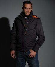 Superdry Technical Pop Zip Windcheater Jacket Black(Orange) (Small) REDUCED