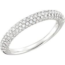 DIAMOND ANNIVERSARY BAND  STACKING RING 3/8ctw Pave' 14kt White Gold MSRP:$1794