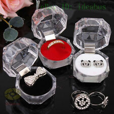 """3/6/12PCS (size1.5""""x1.5""""x 1.3""""H)Plastic Clear Box For Jewelry Ring Gift Box"""
