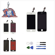 LCD Display Screen Touch Digitizer Assembly Replacement For iPhone 5S +Tools US
