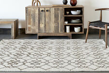 Chandra Rugs Stella Patterned Contemporary Wool Cream/Brown Area Rug