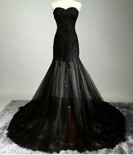 Womens New Bra Lace Wedding Slim Long Trailing Cocktail Party Gown Evening Dress