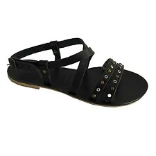 MARLIN FACTORY women's sandal bottom black studs bronze e silver mod B113