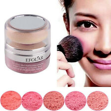 Hot! Natural Pure Mineral Face Cheek Blush Blusher Powder Cosmetic With Sponges