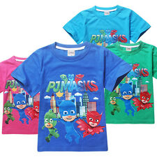 Kids T-Shirts Summer Casual Girls Boys Clothes Short Sleeve Cartoon Gift 3-9Y
