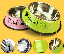Stainless Steel Dog Bowls Pet Cat Dog Raised Bowl Feeder Water Food Container