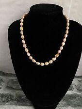 18 Inches Pink Genuine Freshwater Cultured Pearl Necklace