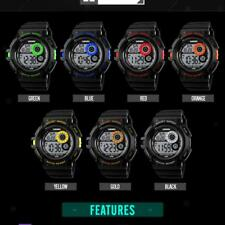 Electronic Sports Watch With Led Backlight Water Resistant Quartz Digital Watch