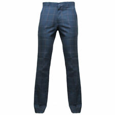 Relco Mens Blue Tweed  Sta-Press 60's Mod Trousers Sizes 28 - 42