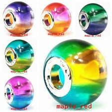 Beautiful Colorful Lampwork Glass Beads Fit European Charm DIY Bracelet Gift