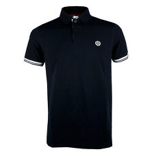 Mens Henri Lloyd Norbit Sleeved Navy Short Polo Shirt