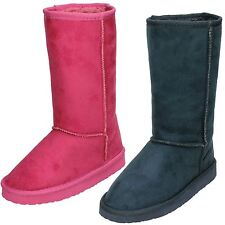 Girls Spot On Microfibre Pull On Calf Length Boots