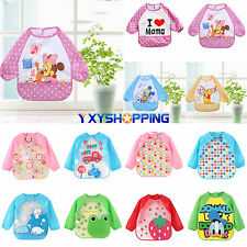 Baby Toddler Boy Girl Waterproof Long Sleeves Bib Apron Waterproof Feeding Smock