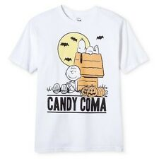 Snoopy Charlie Brown CANDY COMA Halloween T-Shirt S L Boys Girls