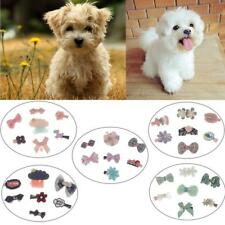 7Pcs Cute Design Handmade Pet Cat Dog Hair Clips Multicolor Grooming Accessories