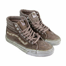 Vans Sk8 Hi Reissue + Mens Brown Suede High Top Lace Up Sneakers Shoes
