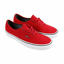Vans Authentic Sport Mens Red Canvas Lace Up Lace Up Sneakers Shoes
