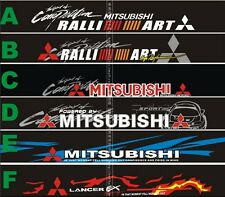 Reflective Front Windshield Decal Vinyl Car Stickers for Mitsubishi Window Deco