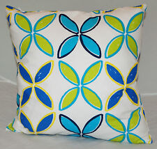 Retro Flower Pattern Design Cotton Cushion Cover with a zip Handmade