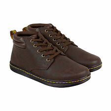Dr. Martens Maleke Mens Brown Leather Casual Dress Lace Up Boots Shoes