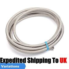 AN 4 6 8 10 Nylon Stainless Steel Braided Rubber Fuel Gas Oil Cooler Hose 1M 6M