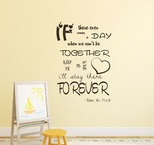 I'll stay there forever Quote Wall Decal Winnie the Pooh Vinyl Sticker aa234