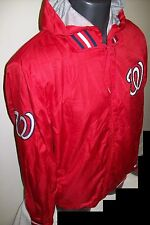 WASHINGTON NATIONALS NATS Ripstop Nylon Jacket with attached hood S M L XL RED