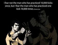 Choose Paper or Canvas POSTER.Bruce Lee martial art.Room art home decor.q0163